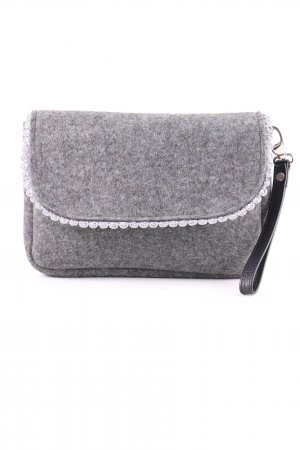 Clutch hellgrau meliert Casual-Look