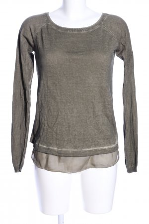 Mymo Knitted Sweater light grey flecked casual look