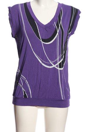 my mo Strickshirt abstraktes Muster Casual-Look