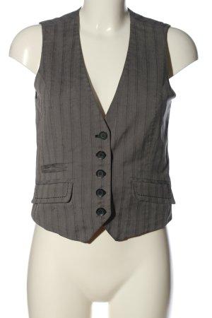 My Own Waistcoat light grey striped pattern casual look