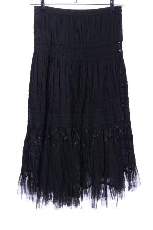 My Own Falda larga negro look vintage