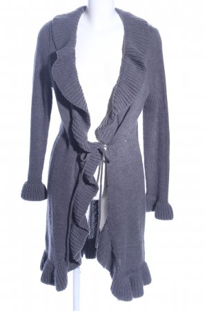 My Own Knitted Coat light grey cable stitch casual look