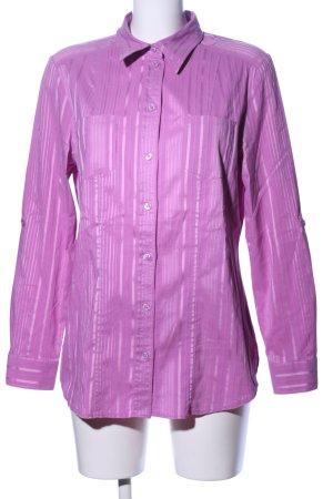 my way fer Langarmhemd pink Streifenmuster Business-Look