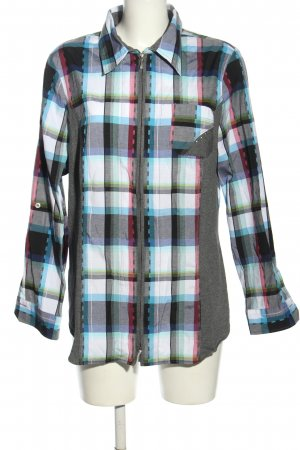 my way fer Long Sleeve Shirt check pattern casual look