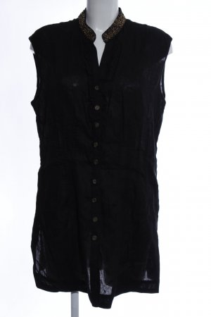 MYBC Long-Bluse schwarz Business-Look