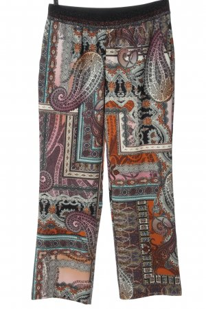 MYBC Pantalone jersey motivo astratto stile casual