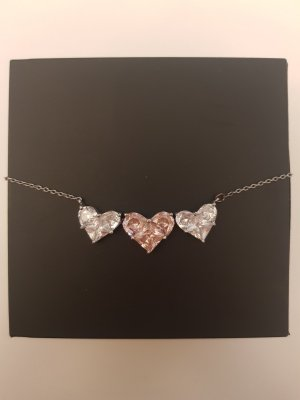 Silver Chain silver-colored-light pink