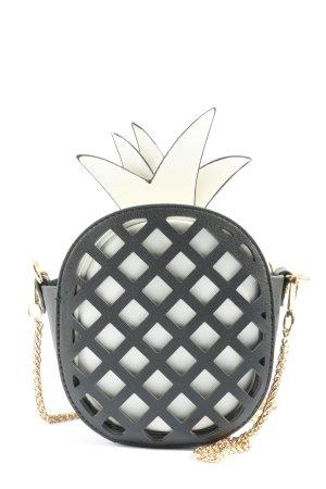 myhalys Handtasche weiß-schwarz Casual-Look