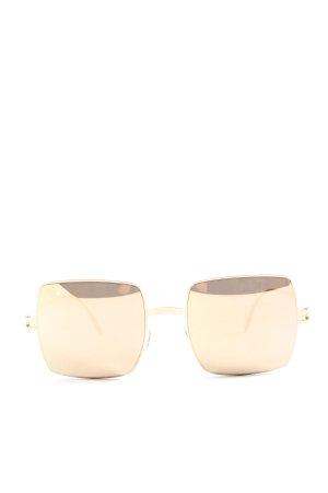 Mykita Occhiale da sole spigoloso oro stile casual