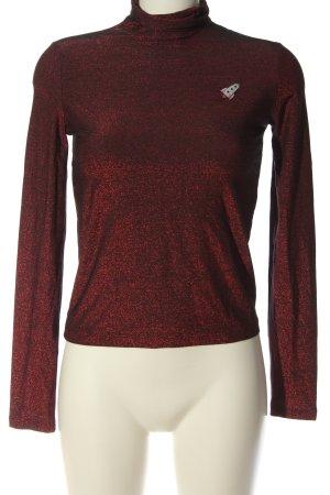 Mykke Hofmann Turtleneck Shirt red flecked casual look