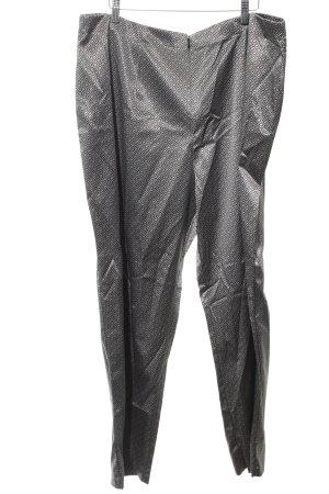 Myline Anzughose silberfarben-schwarz Allover-Druck Glanz-Optik