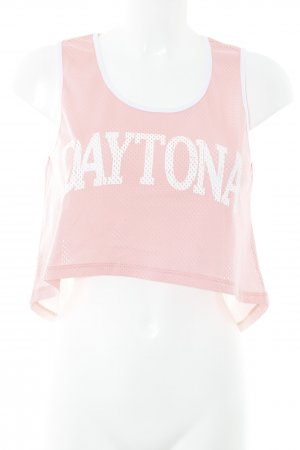 Mymo Cropped Top pink printed lettering athletic style