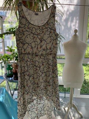 myMo Kleid Skaterkleid süßes Muster Sterne Tau Herzen 40