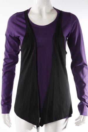 Mymo Longsleeve dark violet-black cotton