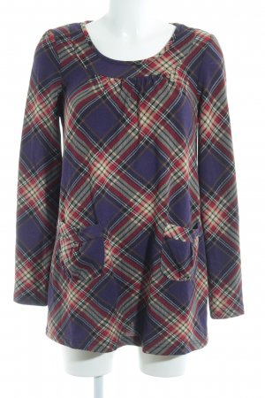 Mymo Long Top lilac check pattern casual look