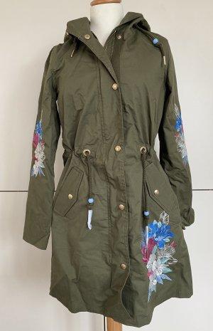 MyMo Parka NEU oliv grün khaki Jacke Stickerei geblümt