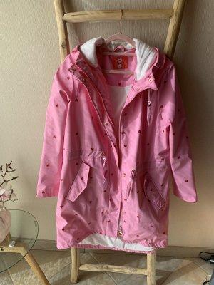 MyMo Regenmantel rosa mit Herzen