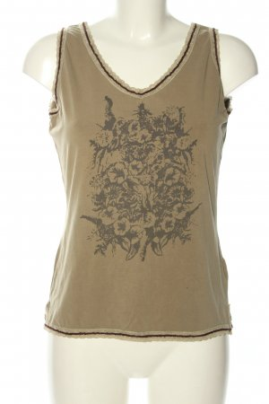 Mymo Lace Top brown-gold-colored themed print casual look