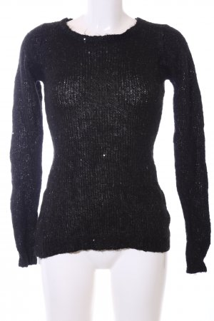 Mymo Knitted Sweater black casual look