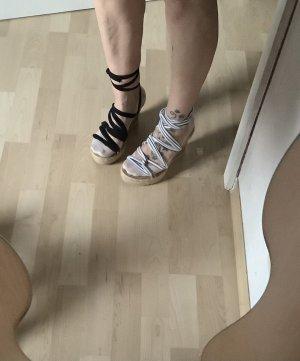 my shoes Sandały na grubym obcasie Wielokolorowy