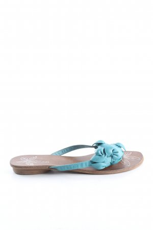Myshoes Flip-Flop Sandals turquoise casual look