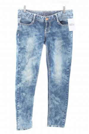 N n.d.c. made by hand Skinny Jeans dunkelblau-wollweiß Casual-Look