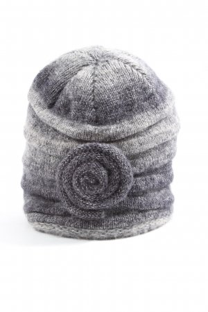 n.nfasion Knitted Hat light grey-cream color gradient casual look