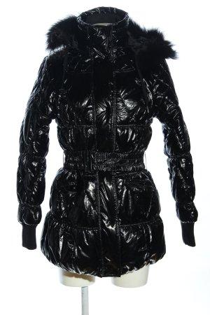 N & P Fashion Veste matelassée noir motif de courtepointe style décontracté
