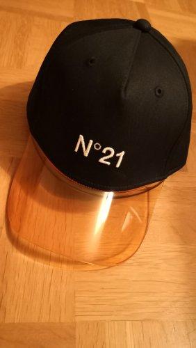 N21 Cappello di lana nero-arancione chiaro