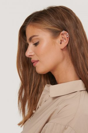 NA-KD Earclip silver-colored