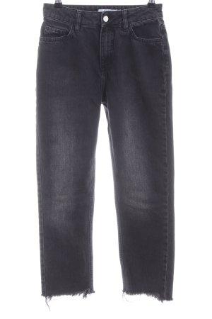 NA-KD 7/8-jeans zwart casual uitstraling