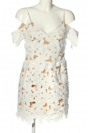 NA-KD Abendkleid weiß-braun Elegant