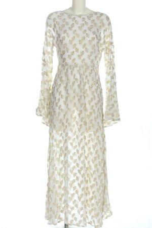 NA-KD Abendkleid weiß-goldfarben Elegant