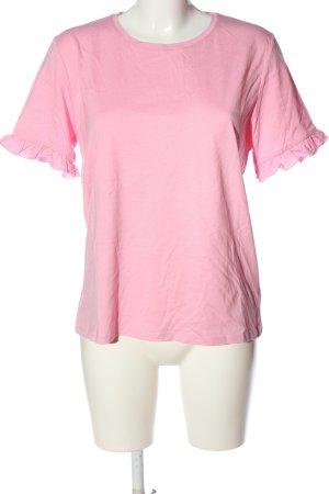 NA-KD Basic-Shirt pink meliert Casual-Look