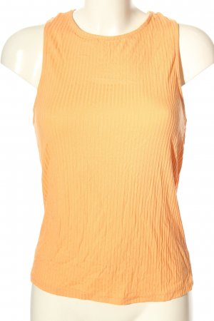 NA-KD Basic Top hellorange Streifenmuster Casual-Look