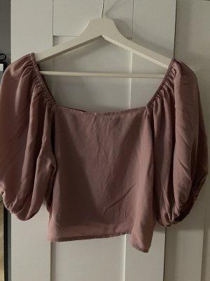 Na-Kd Bluse in rosa, kurz geschnitten und schulterfrei