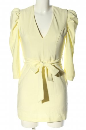 NA-KD Blusenkleid blassgelb Elegant