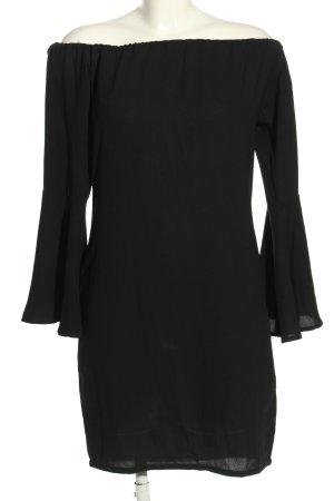 NA-KD schulterfreies Kleid schwarz Business-Look