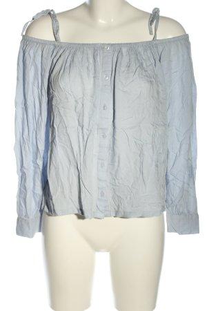 NA-KD Bluzka typu carmen niebieski W stylu casual