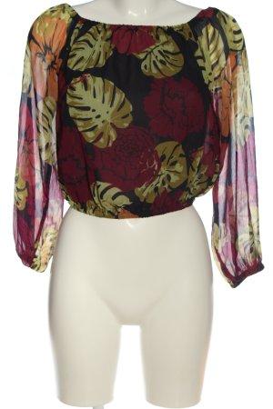 NA-KD Carmen blouse volledige print casual uitstraling