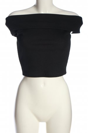 NA-KD Bluzka typu carmen czarny W stylu casual