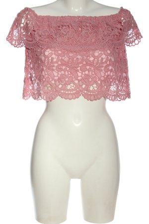 NA-KD Carmen Blouse pink mixed pattern casual look