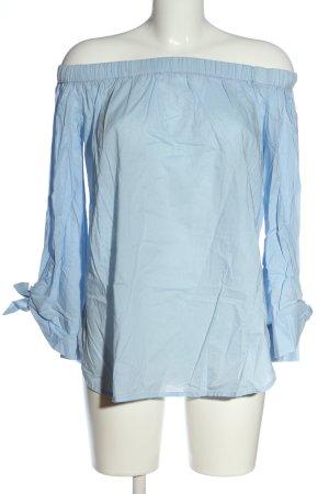 NA-KD Carmen-Bluse blau Casual-Look