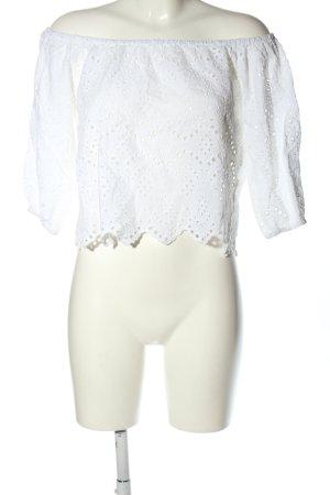 NA-KD Carmen shirt wit casual uitstraling