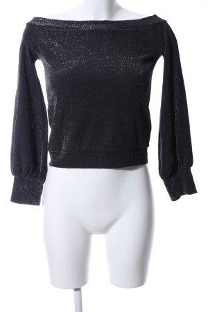 NA-KD Carmen Shirt black flecked casual look
