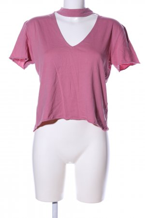 NA-KD Cropped Shirt pink casual look