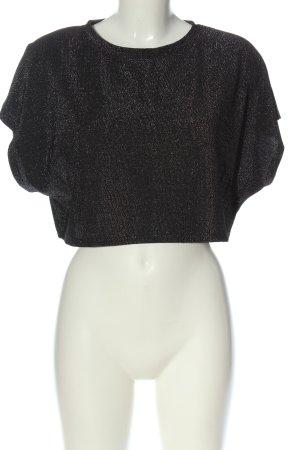 NA-KD Cropped Shirt schwarz Casual-Look