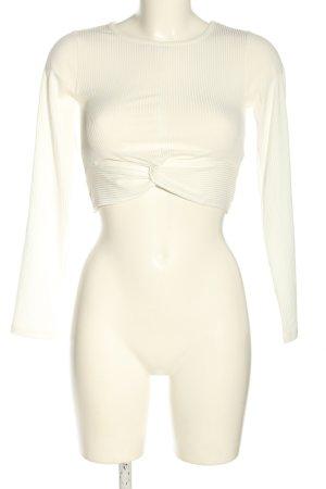 NA-KD Cropped Shirt weiß Casual-Look