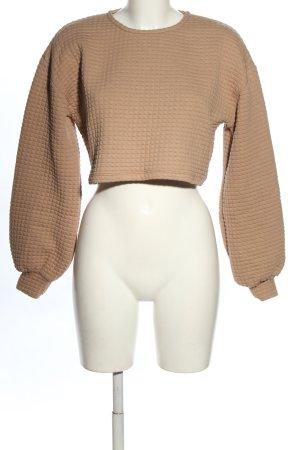 NA-KD Cropped Shirt braun Karomuster Casual-Look