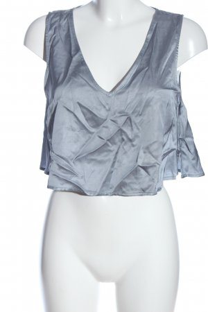 NA-KD Cropped top lichtgrijs casual uitstraling